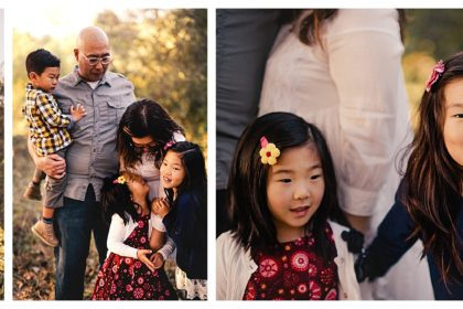Moody woodsy family photography Orange County